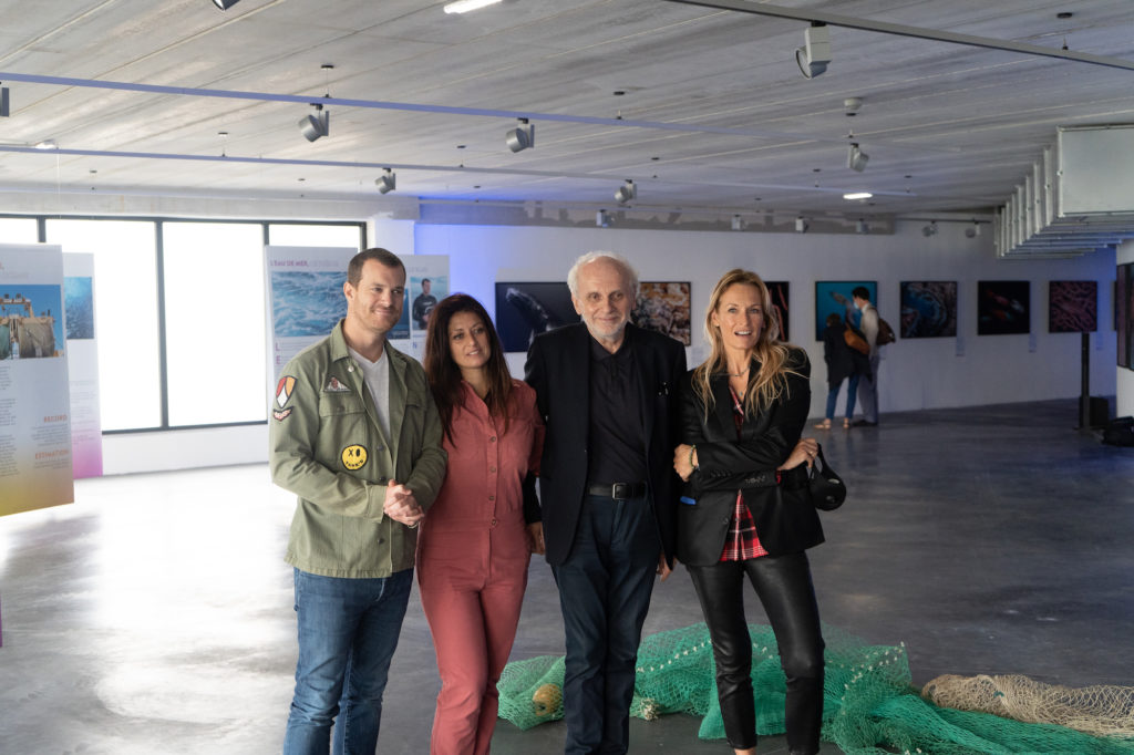 Les yeux dans le bleu inauguration : Rodolphe Guignard, Géraldine Parodi, Norbert Fradin, Estelle Lefébure.